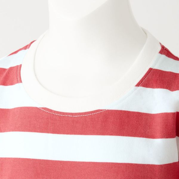 無印 天竺編ボーダー半袖Tシャツ 150