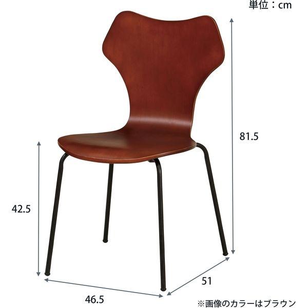 弘益 イグレックチェア ブラック YC-B25×2PCS BK 1セット(2脚入り)(直送品)