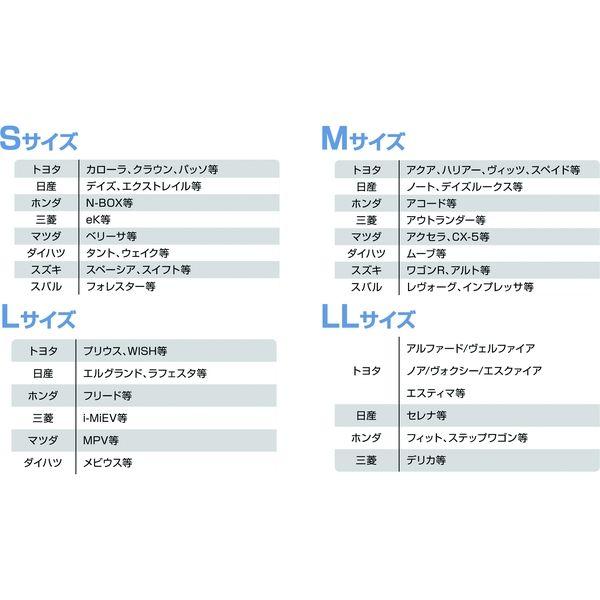 【カー用品】Meltec(メルテック) ダブルシェード L 消臭抗菌タイプ PBW-22 1個(直送品)