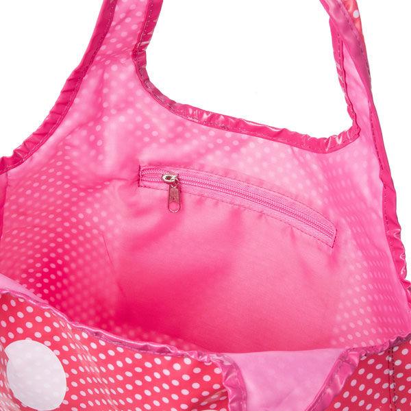 ドットプリントスマイル柄バック ピンク
