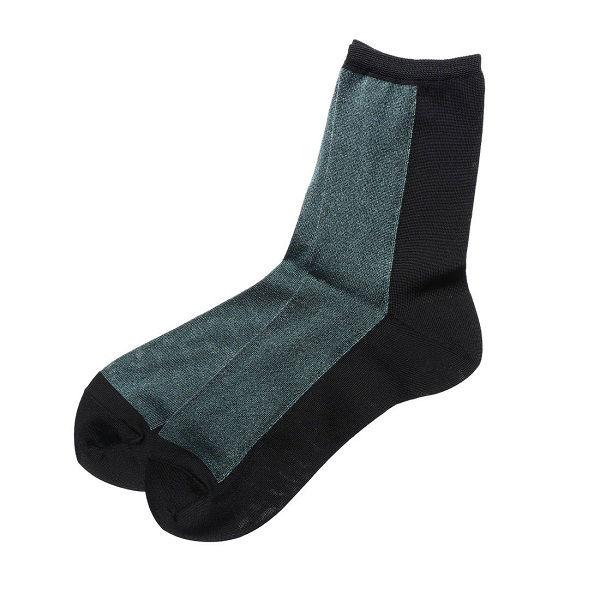 半面ラメソックス 婦人靴下 4色セット