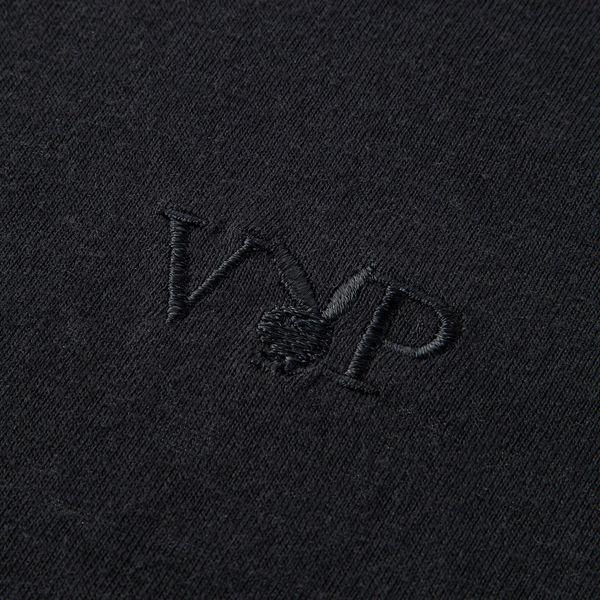 M 黒 紳士VIP天竺半袖V首Tシャツ