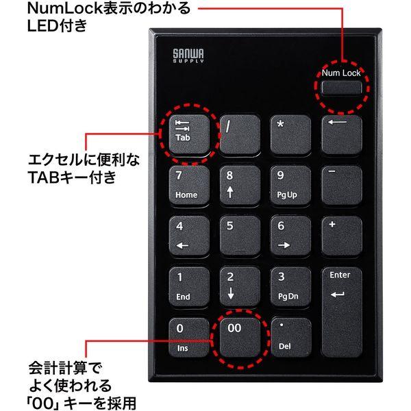 サンワサプライ ワイヤレスUSBテンキー NT-WL21BK 1個(直送品)