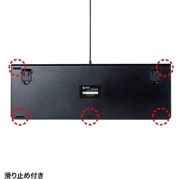 サンワサプライ USBスリムキーボード SKB-SL31BK 1個(直送品)