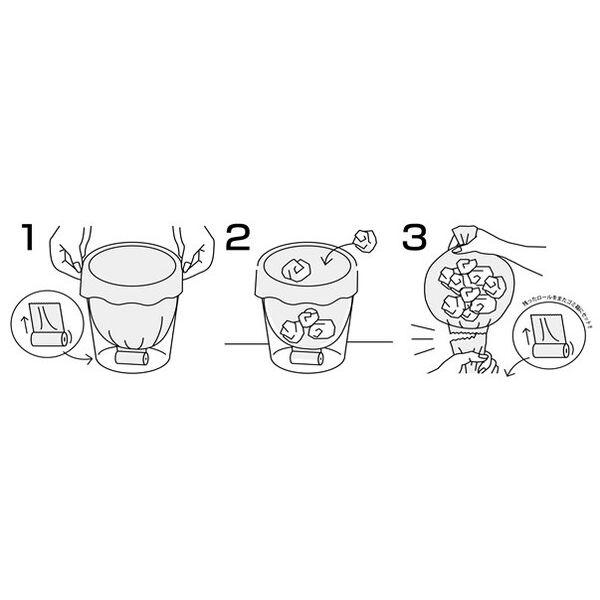 次が使いやすい手さげ袋 10L 半透明 1セット(20枚入×5個) ケミカルジャパン