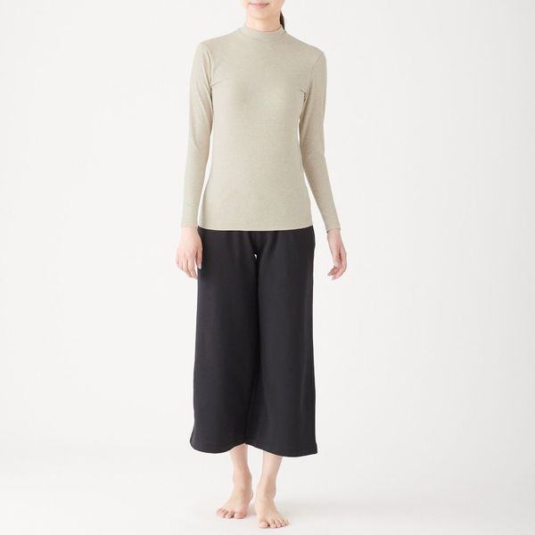 綿であったかハイネック長袖Tシャツ婦人M