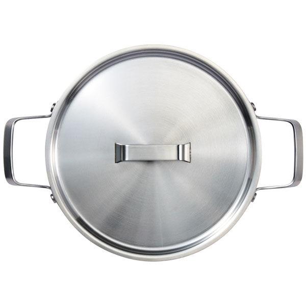 三層鋼・両手鍋・フタ付・20cm