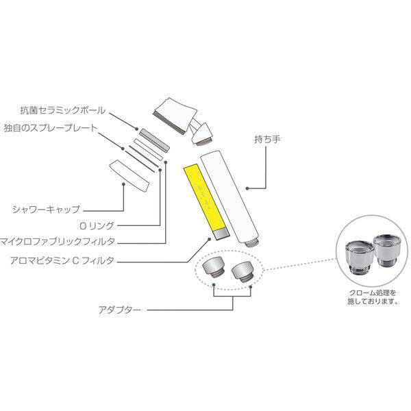 Aroma Sense 香りのシャワーヘッド AS-TULIP (直送品)