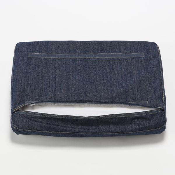 綿デニムLDベンチ・2用カバー/ブルー
