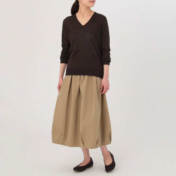 無印 UVカットVネックセーター 婦人M