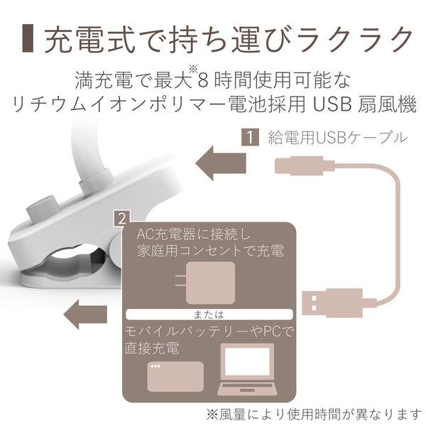 USB扇風機 卓上 FANーU207WH