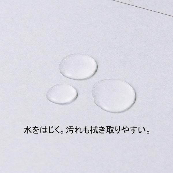 アスクル 背幅伸縮ファイル(PPラミネート表紙) A4タテ グレー 10冊