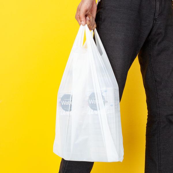 レジ袋 乳白 35号 100枚