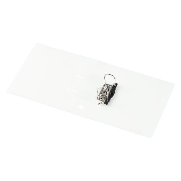 アスクル リングファイル A4タテ 2穴 レバー式アーチファイル 背幅66mm クリアホワイト 白 10冊 ユーロスタイル
