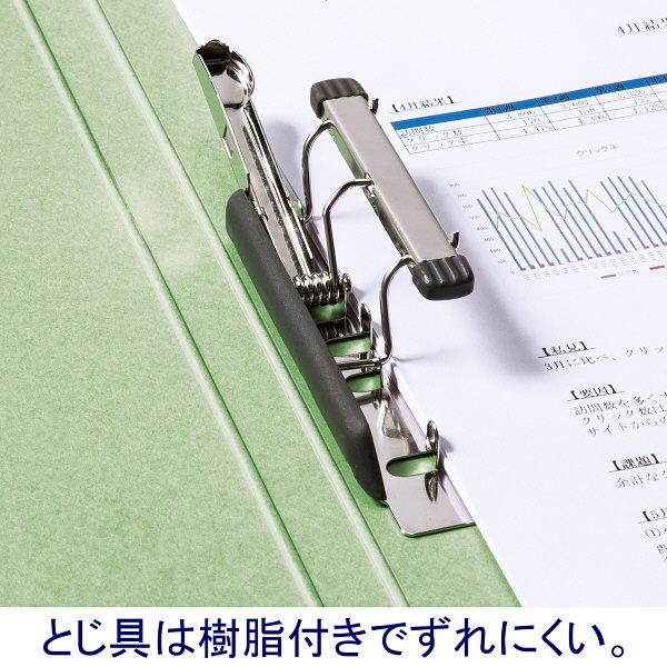 Z式パンチレスファイル A4タテ 背幅15mm 10冊 アスクル シブイロ グリーン