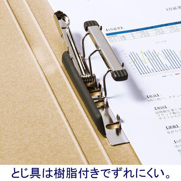 Z式パンチレスファイル A4タテ 背幅15mm 60冊 アスクル シブイロ ベージュ