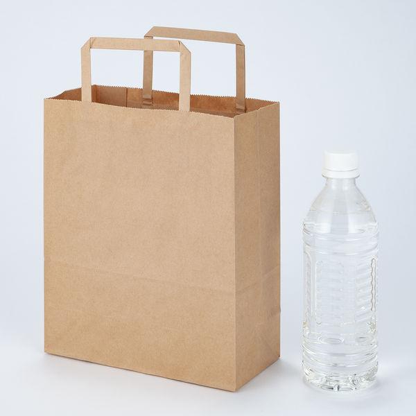 平紐手提袋薄型200×240×90 茶