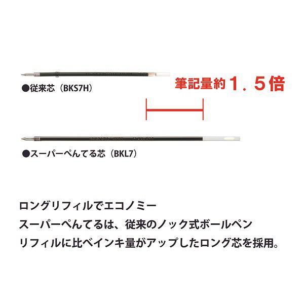 ぺんてる スーパーぺんてる(Super Pentel) 青 BK977-C 1箱(10本入)