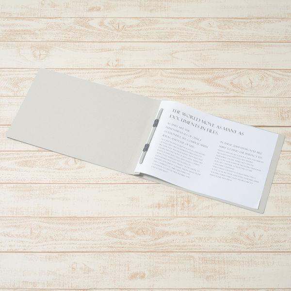 プラス フラットファイル B4 ヨコ グレー 2穴 No.012N 1袋(10冊入) (直送品)