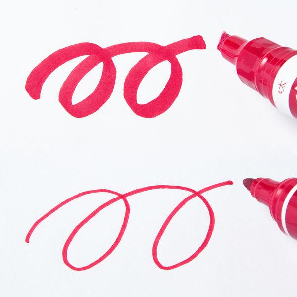 ハイマッキーケア 太字/細字 詰め替えタイプ(アスクル限定モデル) 赤 10本 油性ペン ゼブラ
