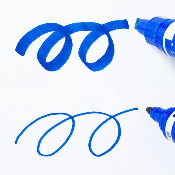 ハイマッキーケア 太字/細字 詰め替えタイプ(アスクル限定モデル) 青 10本 油性ペン ゼブラ