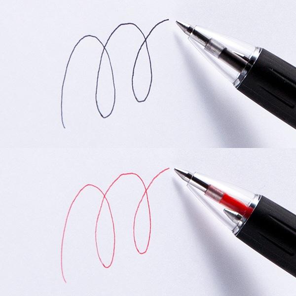 アスクル2色ボールペン 0.7 30本