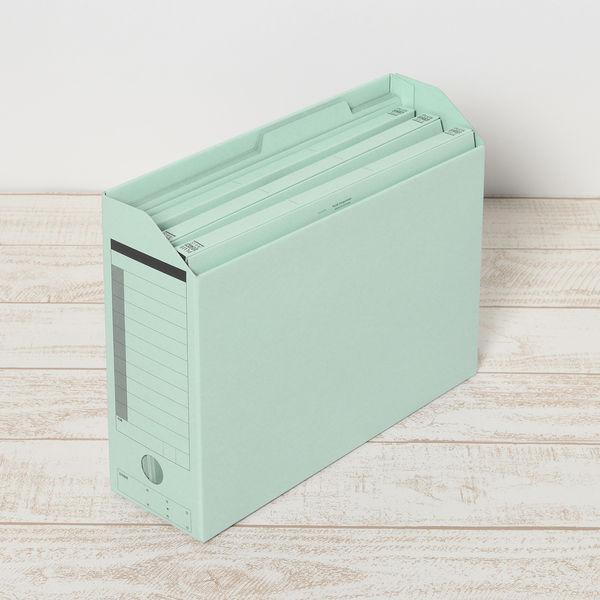 ボックスファイル A4ヨコ 青 5冊入