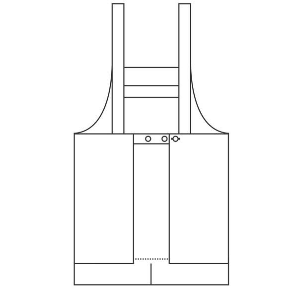 ファーストレイト カラーエプロン(センターベンツ) ネイビー フリー FR-5808 1枚