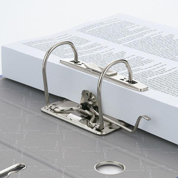 レバー式アーチファイル A3ヨコ 背幅50mm 10冊 キングジム 3503Eアオ 青