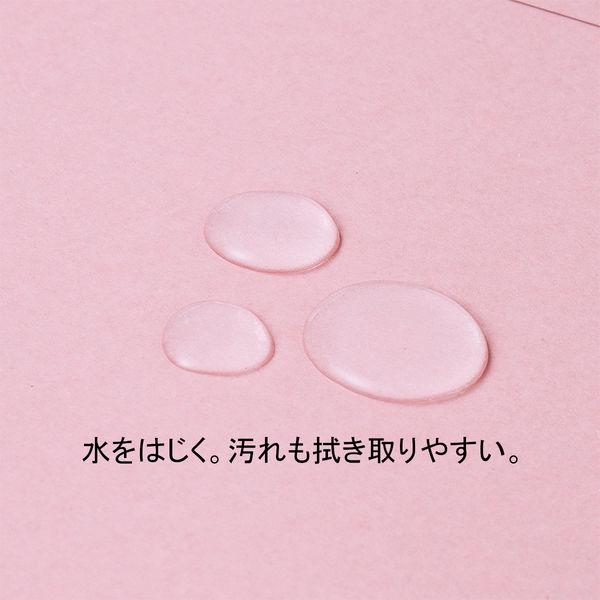アスクル 背幅伸縮ファイル(PPラミネート表紙) A4タテ ピンク 30冊