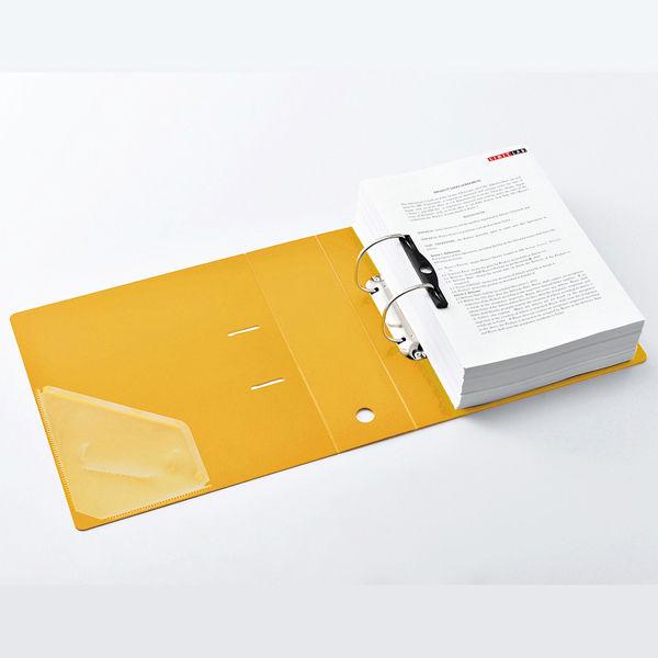 リヒトラブ D型リングファイル A4縦 750枚差し 黄 G2290-5