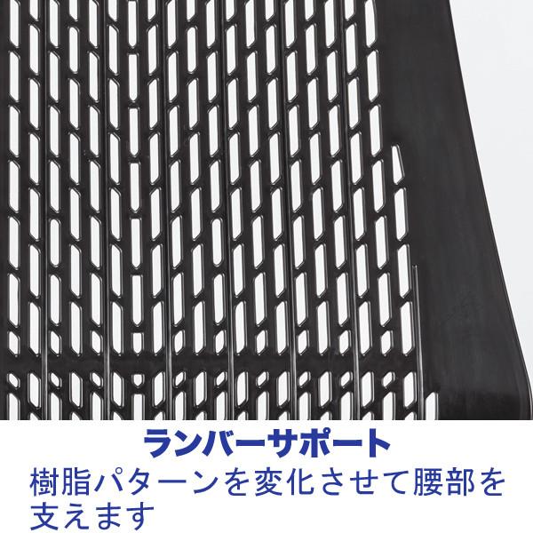 中央可鍛工業 SKOLD(スコルド) オフィスチェア 樹脂メッシュ 肘無し ブラック YC-210B-BK 1脚