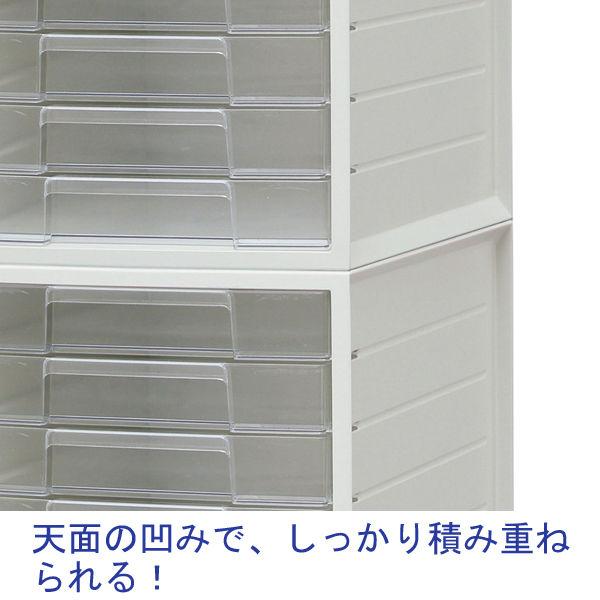 レターケース 浅型3段深型1段 白 4台