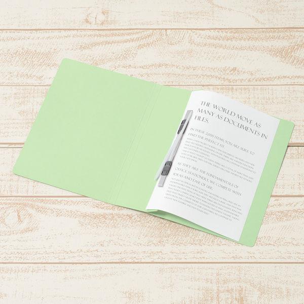 プラス フラットファイル厚とじ500 A5タテ グリーン 87566 1セット(30冊)