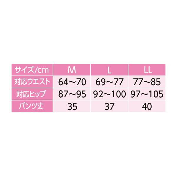 婦人ズロース 花柄ピーチ LL 01849-13 1セット(2枚組) (取寄品)