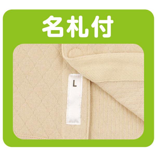 紳士8分袖キルトワンタッチシャツ ベージュ M 01928-01 (取寄品)