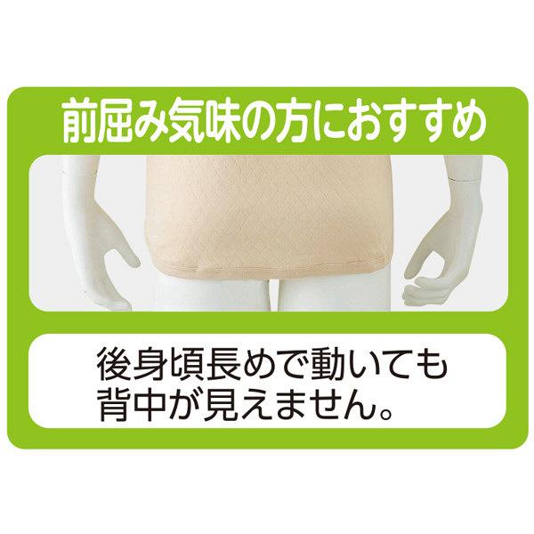 紳士8分袖キルトワンタッチシャツ ホワイト S 01928-14 (取寄品)