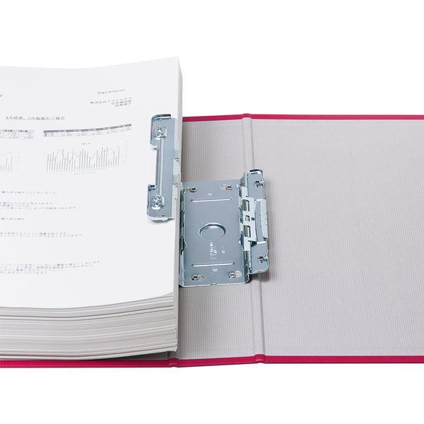 アスクル パイプ式ファイル(両開き) A4タテ とじ厚50mm ユーロスタイル レッド