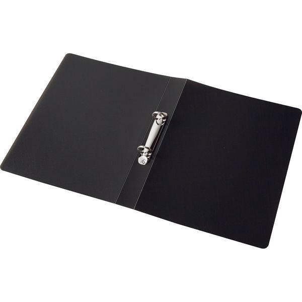 アスクル リングファイル丸型2穴 A4タテ 背幅36mm ユーロスタイル クリアブラック