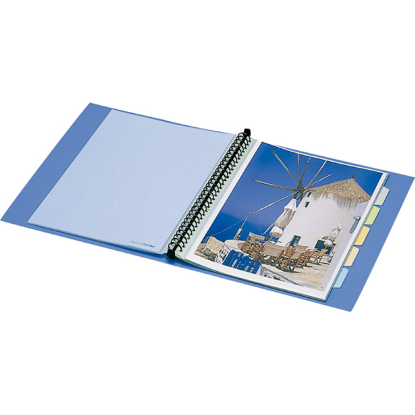 キングジム クリアファイル 差し替え式 20冊 A4タテ背幅25mm カラーベース 青 139