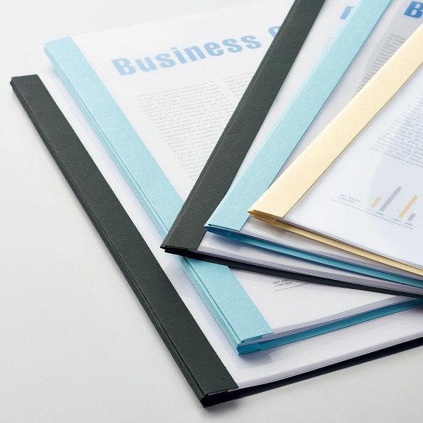 製本ファイル 折加工済み ブルー 5冊