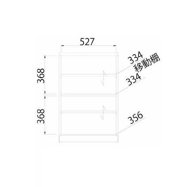 白井産業 横格子風の和家具 キャビネット (直送品)