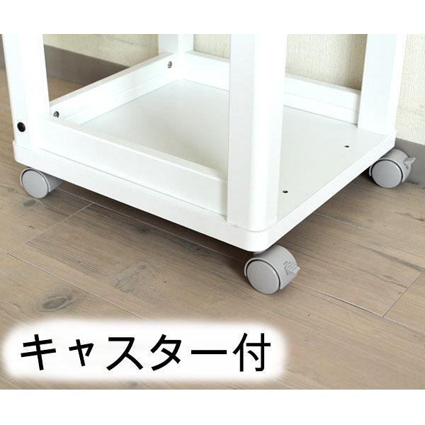 白井産業 キッチンワゴン 幅348×高さ850mm ホワイト 1台 (直送品)