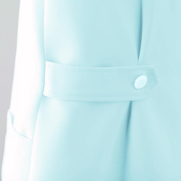 AITOZ(アイトス) ナースジャケット(ベーシック) 女性用 半袖 サックスブルー M 861346-007