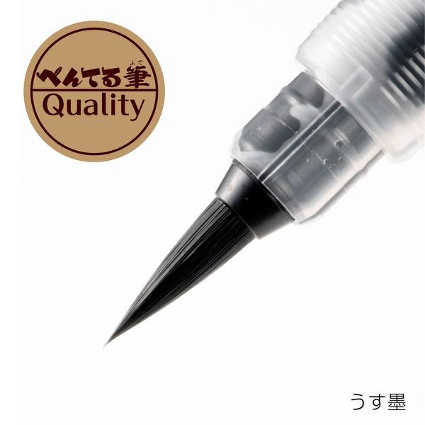 筆ペン うす墨 詰替式 ぺんてる