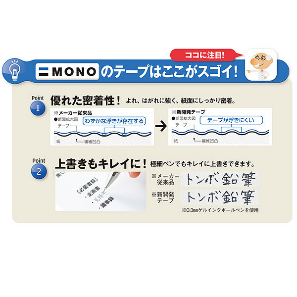 修正テープ モノCX 幅4.2mm×12