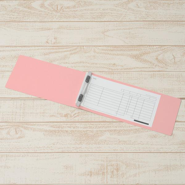プラス フラットファイル(統一伝票用)樹脂製とじ具 背幅28mm ピンク NO.062NW 76038 1セット(30冊:10冊入×3)