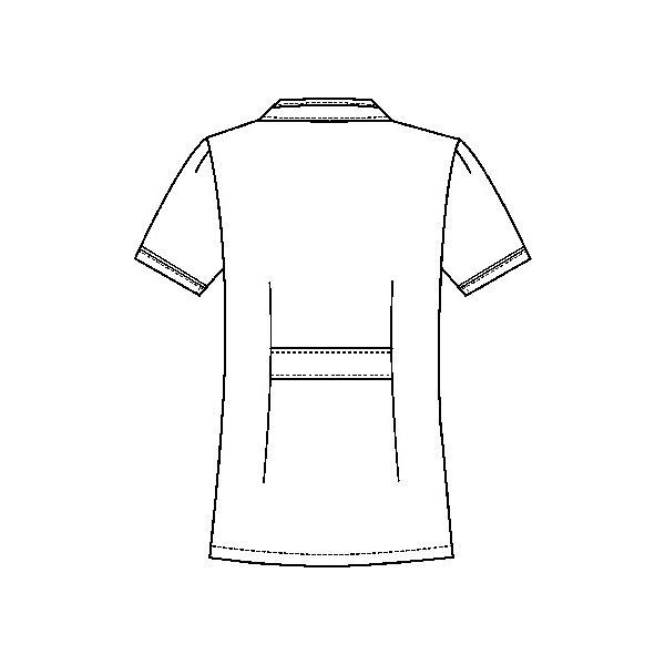 フォーク チュニック 2015EW-7 ホワイト×ネイビー M ナースジャケット (直送品)