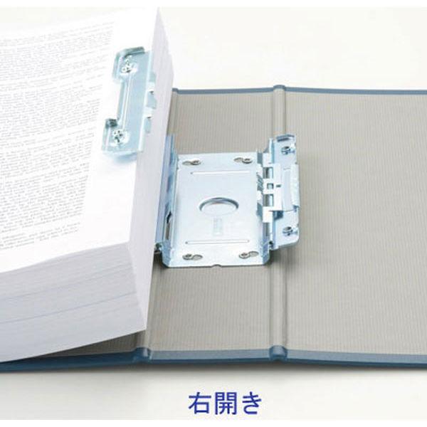 アスクル パイプ式ファイル(両開き) A4タテ とじ厚100mm ユーロスタイル ブルー