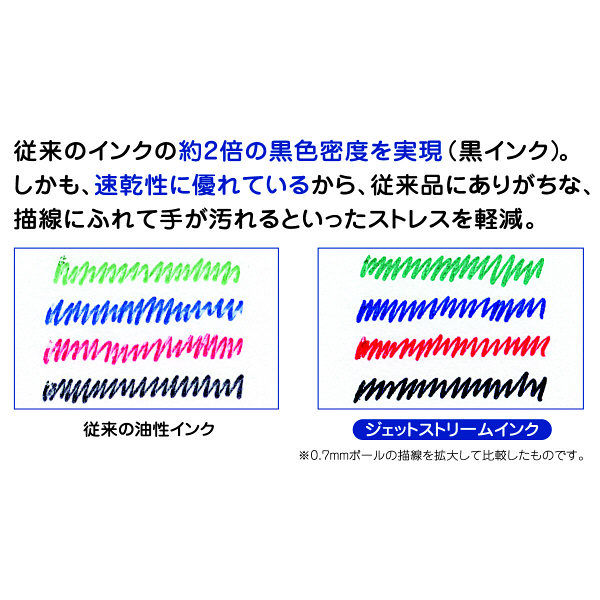 ジェットストリーム多色用替芯0.7青5本